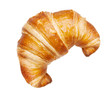 Leinwandbild Motiv croissant isolated isolated on white