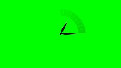 Temps qui passe - fond vert