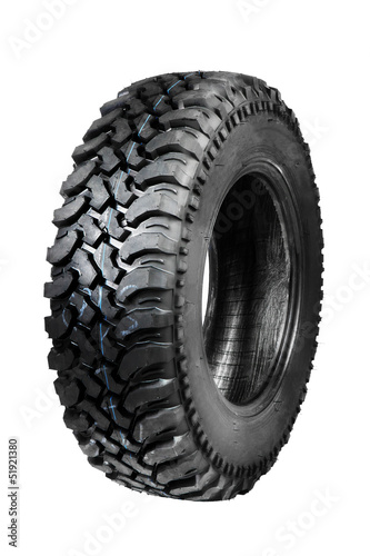 offroad tyre isolated on white