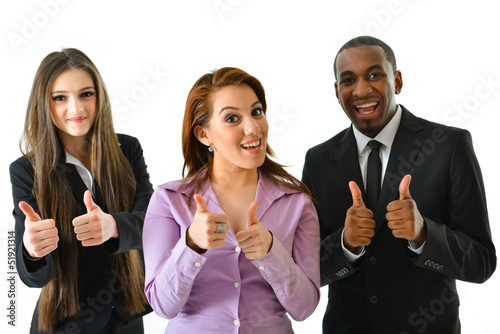 Business Team with Thumbs Up