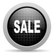 sale black circle web glossy icon