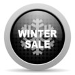 winter sale black circle web glossy icon