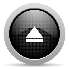 eject black circle web glossy icon
