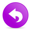 back violet circle web glossy icon