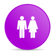 couple violet circle web glossy icon