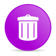 recycle violet circle web glossy icon
