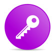 key violet circle web glossy icon