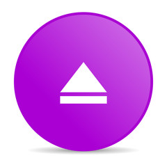 eject violet circle web glossy icon