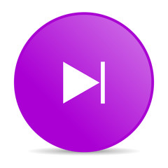 next violet circle web glossy icon