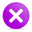 cancel violet circle web glossy icon