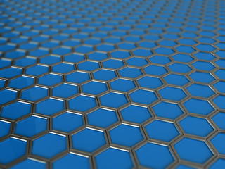 trendy background with hexagons