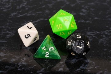 Unusual dice © Arena Photo UK