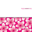 Happy Mother's Day Frangipani (Plumeria) card in vector format.