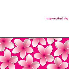 Happy Mother's Day Frangipani (Plumeria) card in vector format.