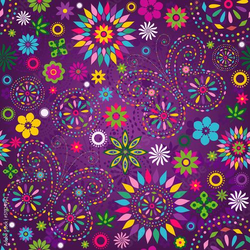 Seamless motley violet pattern