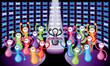Crowd dancing in a nightclub. EPS10