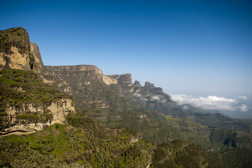 landscape in simien national park, ethiopia