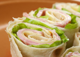 healthy club sandwich pita bread roll