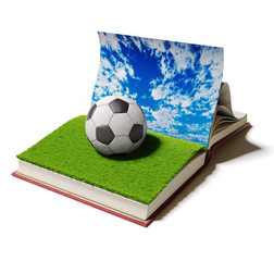 football ball in book