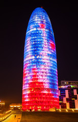 Torre agbar in night