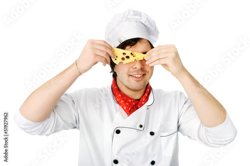 Chef and cheese