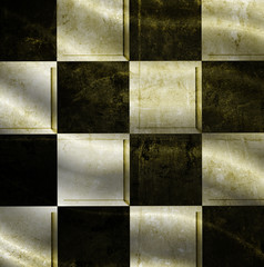 checkered background with folds