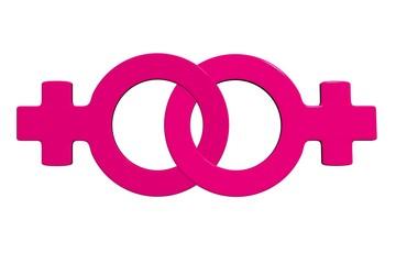 3d lesbian sign