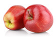 Two red apple fruits isolated on white with clipping path