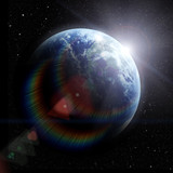 realistic planet earth in space - 51929140