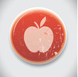 Apple -Vector button badge