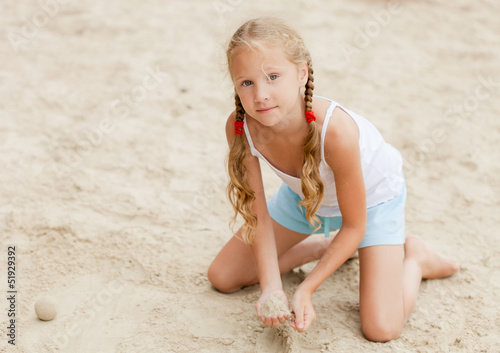 happy child on the beach Poster
