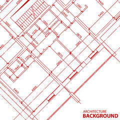 Red architecture background