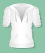 Girl Winter Jacket Design Vector Illustration Template