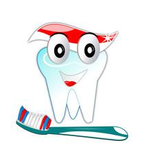 la brosse et la dent