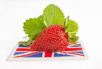 Strawberry british flag summer.