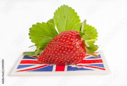 Strawberry british flag summer.