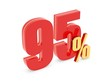 85 Percent off - red symbol