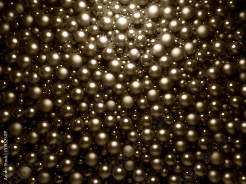 Abstract golden shinning pearls background