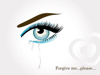 Blue crying eye