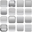 Square grey app icons.