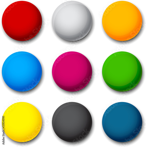 Round colorful balls.