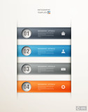 infographics options banner design
