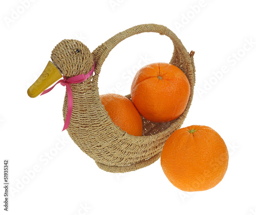 Navel Oranges Duck Basket