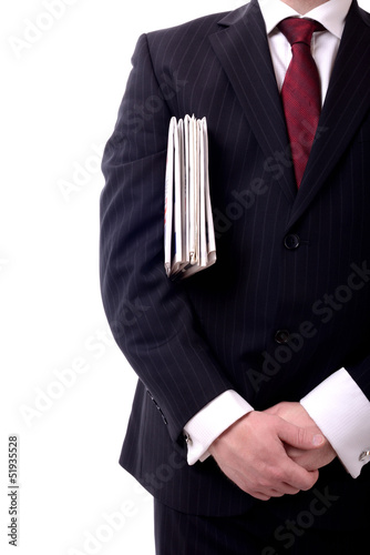 businessman newspapers
