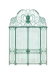 portail fer forgé et piliers