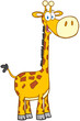 Happy Giraffe Cartoon Mascot C...