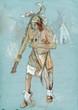 Indian on the warpath (dug battle-axe)