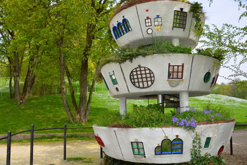 Hundertwasser's garden house