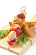 Chicken Shish kebab and potato wedges