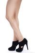 Tolle Frauen Beine und modische Schuhe